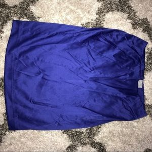 Blue silk skirt